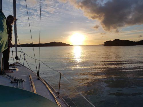 Anchored at dusk